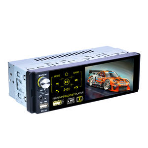 1 Din 4,1 zoll Universal Kapazitiven Touchscreen Auto Stereo DVD Radio Audio mit RDS / FM / AM