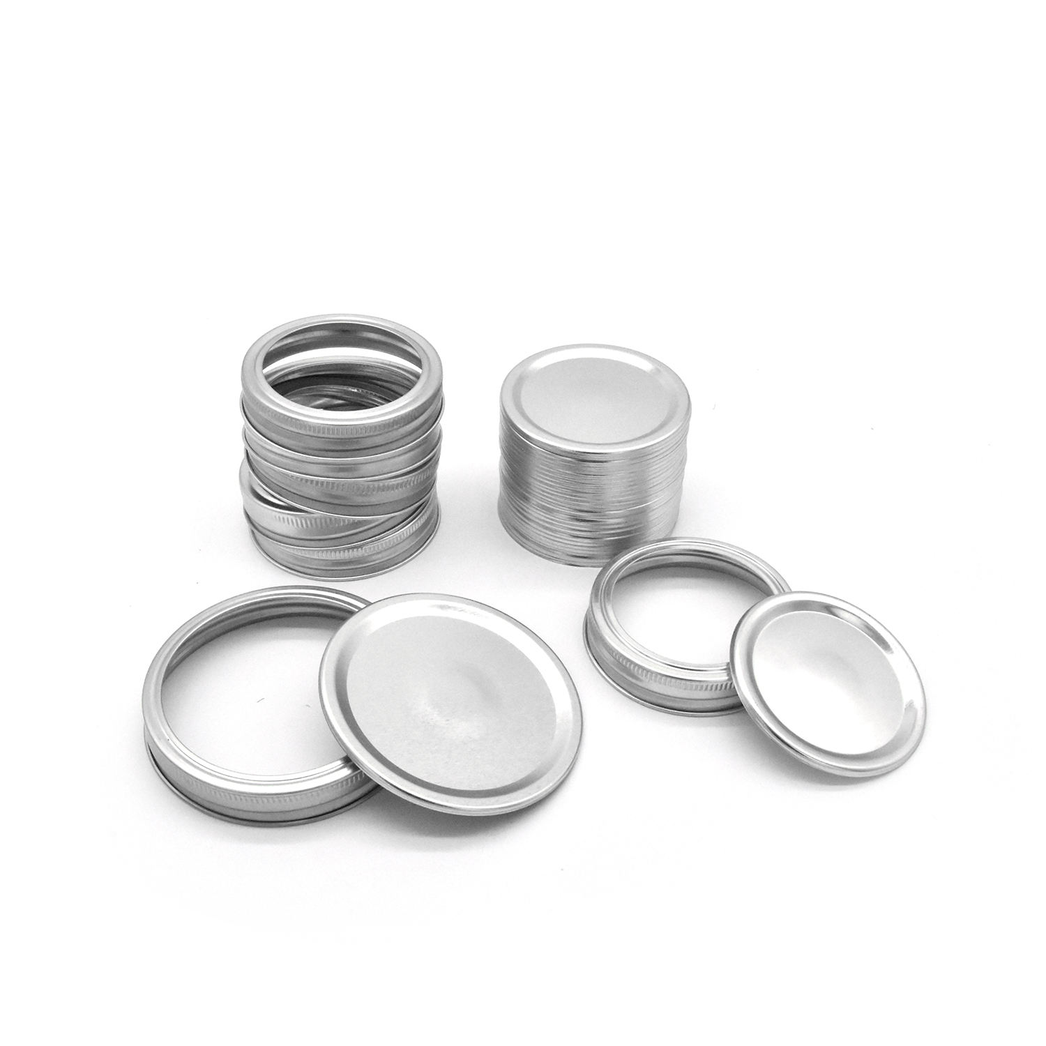 70mm 86mm Tinplate Regular and Wide Mouth Mason Jar Canning Lids with Rings
