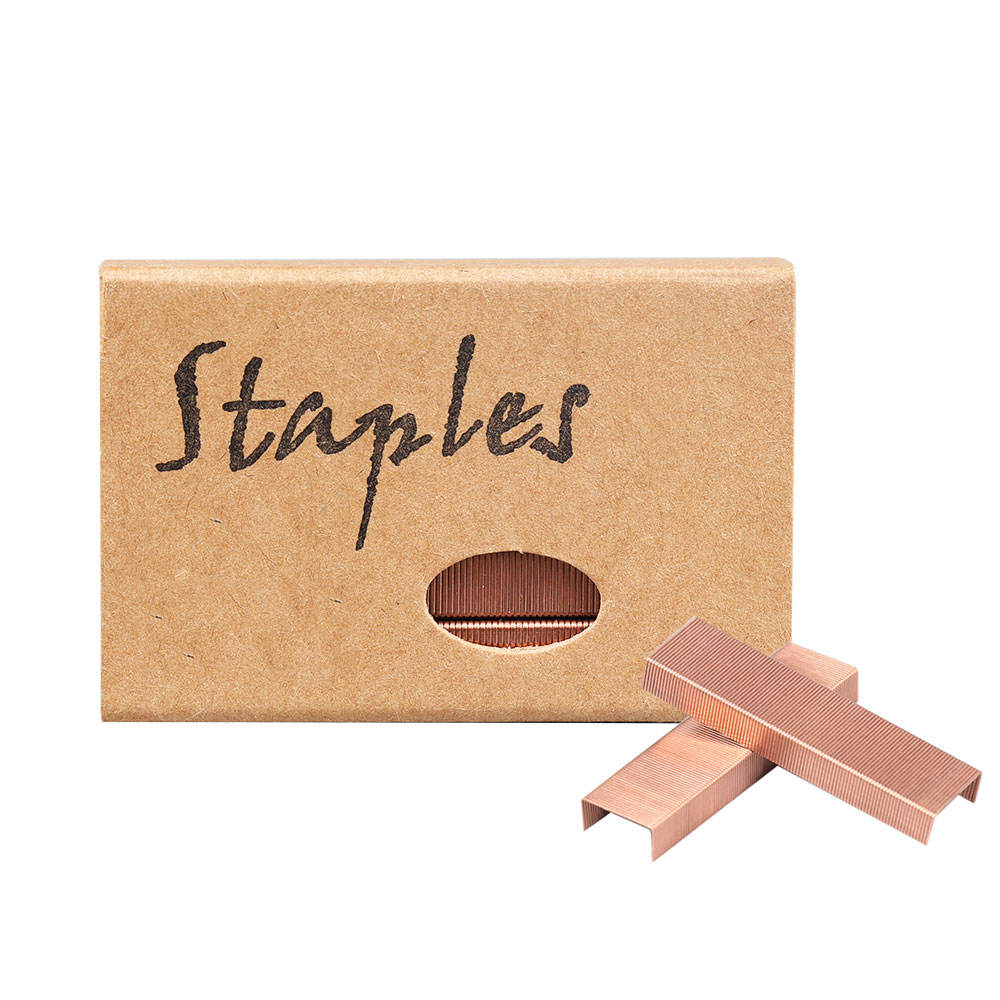 office binding supplies steel standard 950pcs in a box rose gold 26/6 staples
