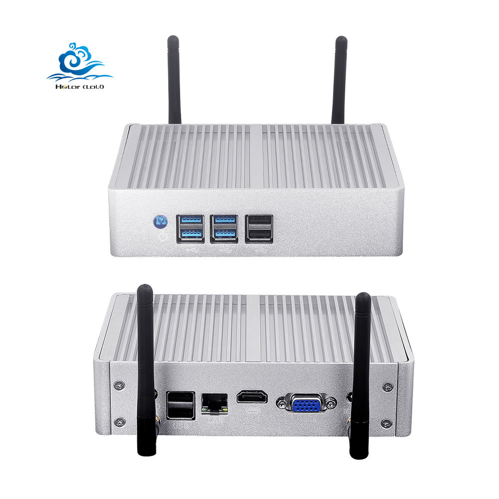 Fanless Mini Pc Computer Portable Window10 In-tel I7 4500U I5 4200Y I3 4010Y HTPC H D VGA USB Wifi Minipc Desktop Computadoras