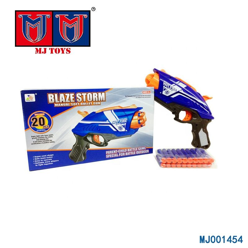 powerful plastic shooting soft bullet wholesale toy guns with EVA bullets