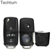 4 Button Auto Remote Key Blank Case For VW Multivan T5 Caravelle HU66 Blade