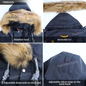 Men's Waterproof 3 In 1 Ski Puffer Coat Detachable Liner and Hood Parka Cotton Winter Jacket