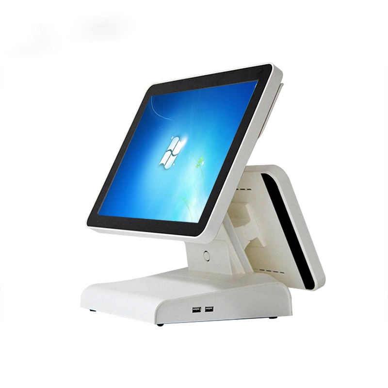 J1900 POS machine Dual screen monitor pos system commercial POS All in one for coffee shop