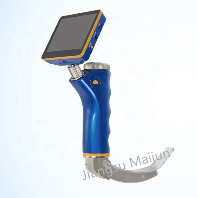 Disposable blades Stainless steel Handheld Video laryngoscope For Airway Intubation