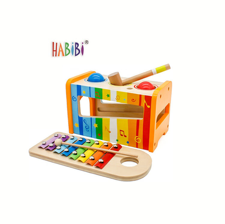 Hot new product Kids Colorful Wooden Toy Percussion xylophone musical instruments