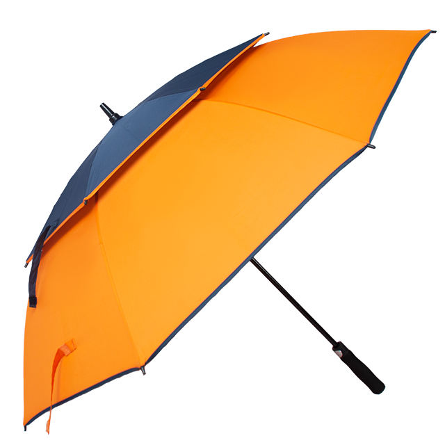 umbrella promotional double layers automatic wind vent strong ventilation paraguas windproof golf umbrella sale