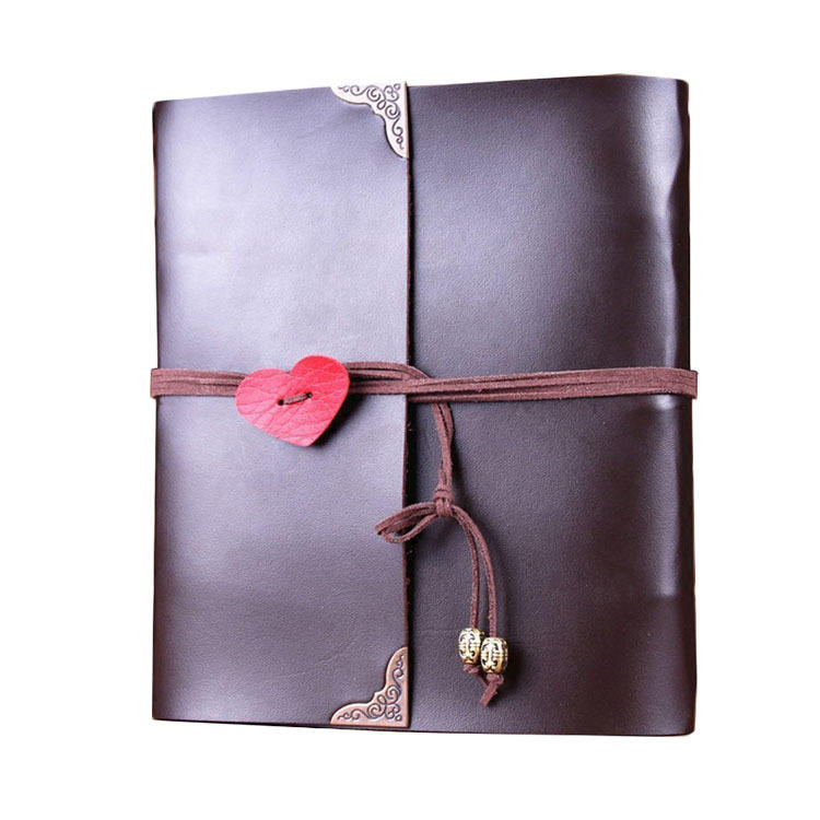 Seaygift factory Cheap wholesale diy a4 size white black coffee color scrapbook photo album leather album for gift