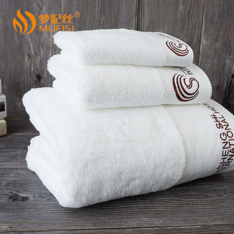 100 Cotton Towels Set Customized Color 100% Cotton Hotel Dobby Face Towel Sets