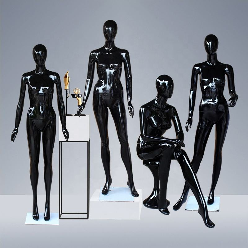 Shinny Black Female Mannequin Full Body Women Sexy Mannequins Whole Body Standing Fashion Female Mannequin