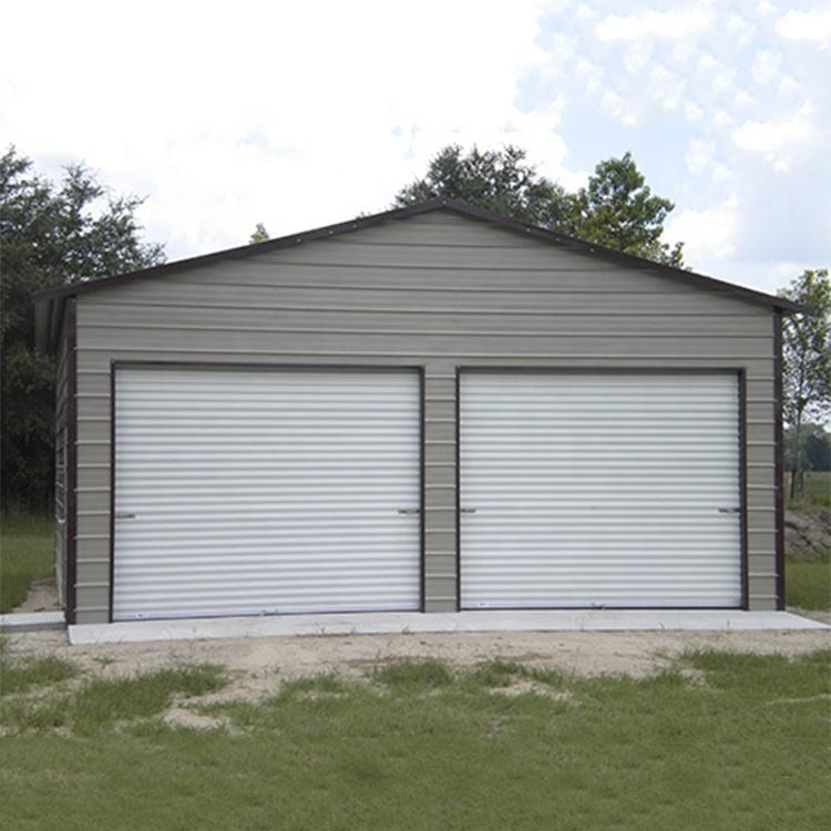 Garage/storage shed/carports prefabricated garage steel carport made of light structure kits lowes