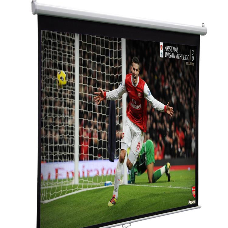 Home theatre 4:3 84 inch Neptune Manual Projector Screen