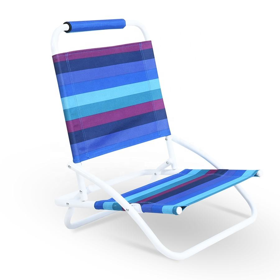 Low Seat Compact Size Lightweight Portable Foldable Sun Beach Chair