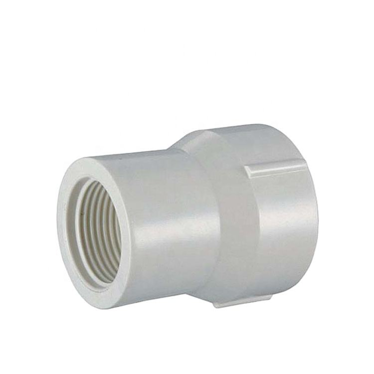PVC pipe fittings male thread coupling female reducing adapter 3/4 inch