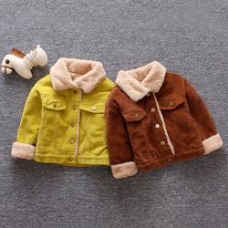 Hot Sale bulk coats Autumn And Winter Boys Thick Velvet Coat hoodie winter