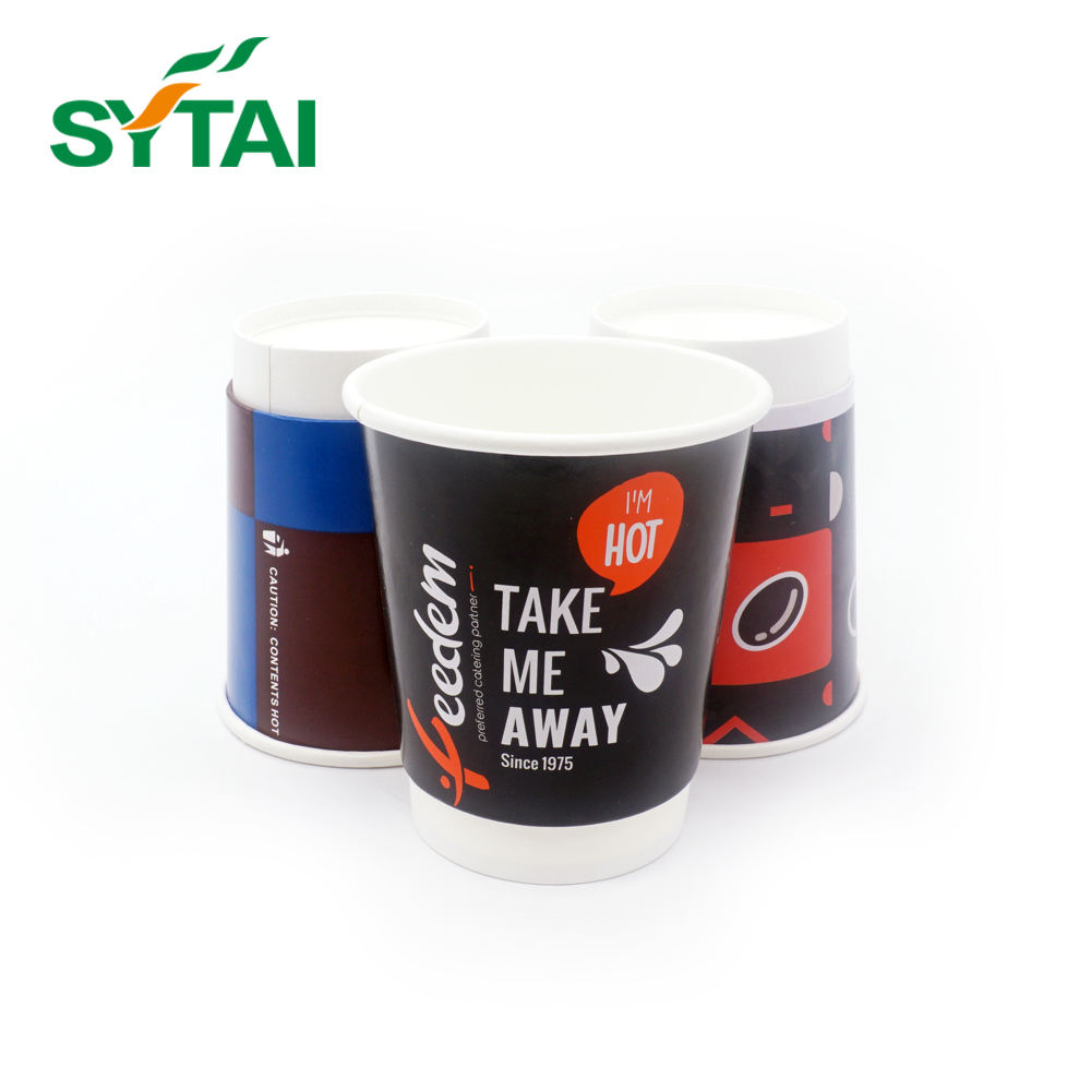 Manufacturer Supply Quality 450ml 16oz Custom Double Wall Coffee Drink Tea Insulating Black Coffee Paper Cup