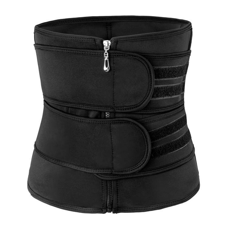 Amazon Hot Selling Compression Double Strap Neoprene Waist Trainer For Ladies Workout Jogging Lose Weight Belly
