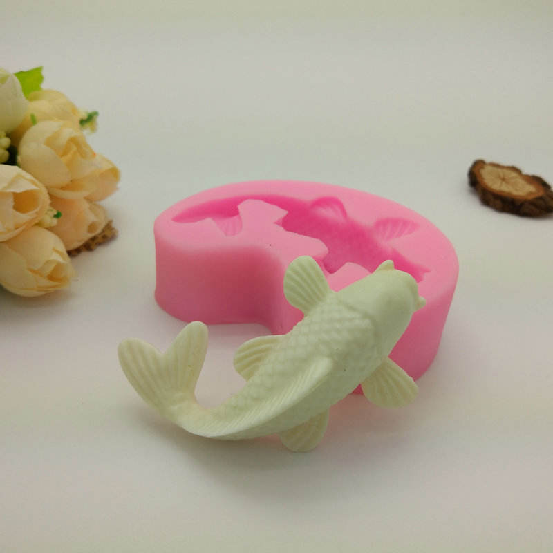 Fish shape Hot selling soap mold silicone silicone soap molds good quality cake tools silicone.