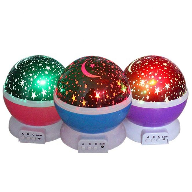 China manufacturer moon star led light kids sleeping night light fancy night lamp projection lamp