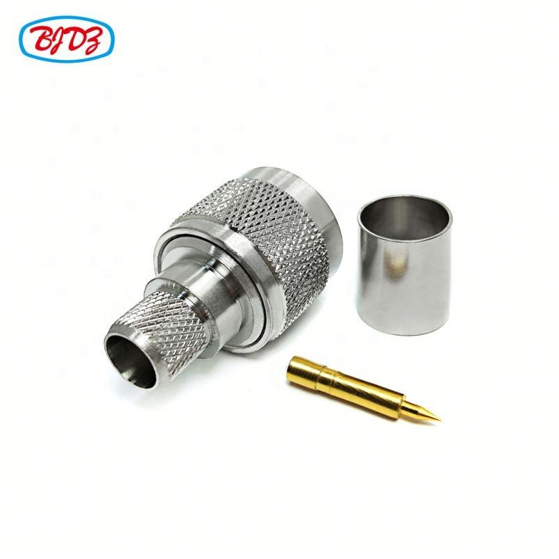 Straight N Male Plug LMR400 RG8 RG213 RG214 Coaxial Cable Connector N Crimp Type Connector