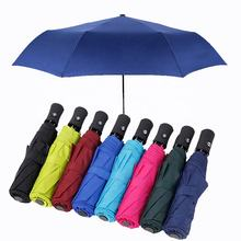 Custom Business 21 Inch 8 Automatic Opening And Closing 3 Fold Umbrella