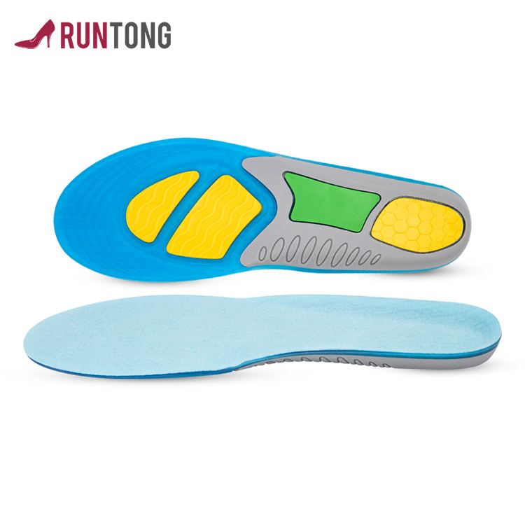 china adjustable Foot balance shock absorption sports gel insoles