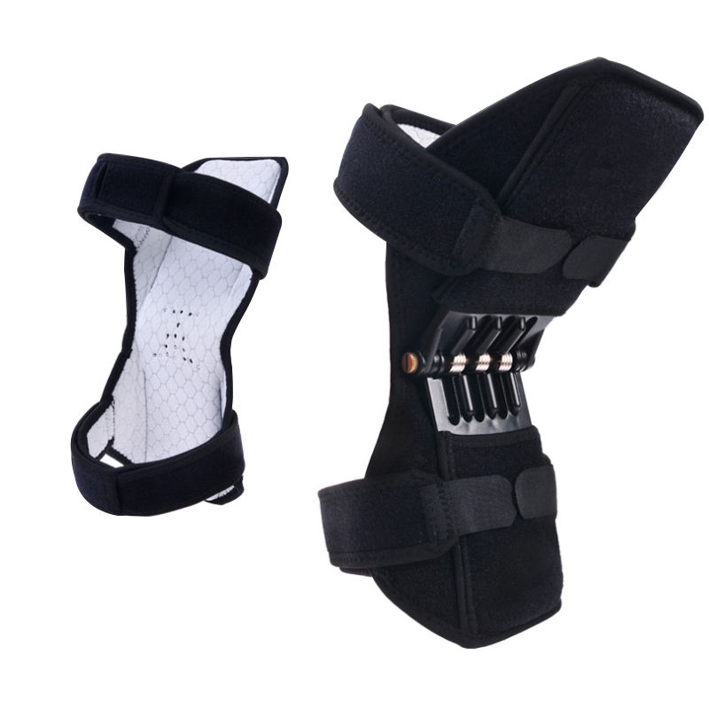 wholesale adjustable knee joint support booster rebound spring force power knee brace patella booster