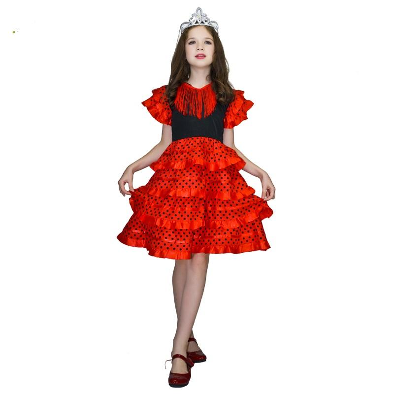 Top Selling Beautiful Spanish Girls Princess Dress Carnival Role Play Princess Costume For Girls