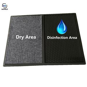 Customized disinfection mat for outdoor rubber sanitizing disinfecting door mat kitchen house use antisepsis shoe mat