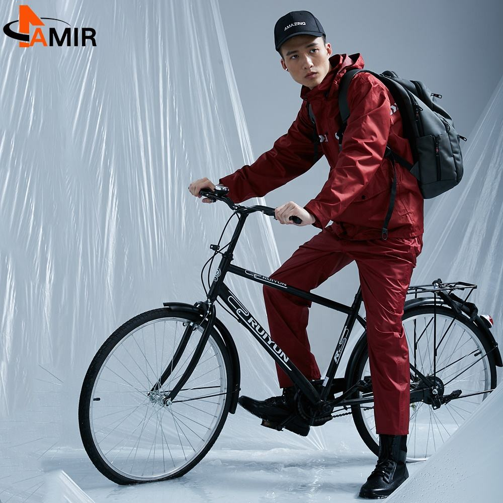 Breathable bike mens packable women waterproof reflective lightweight rain jacket waterproof