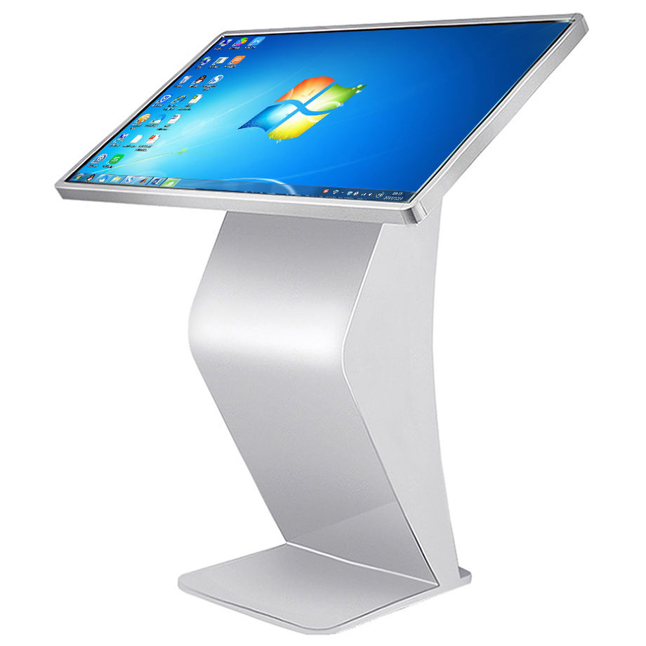Floor standing touch screen information kiosk horizontal interactive all in one pc kiosk for library