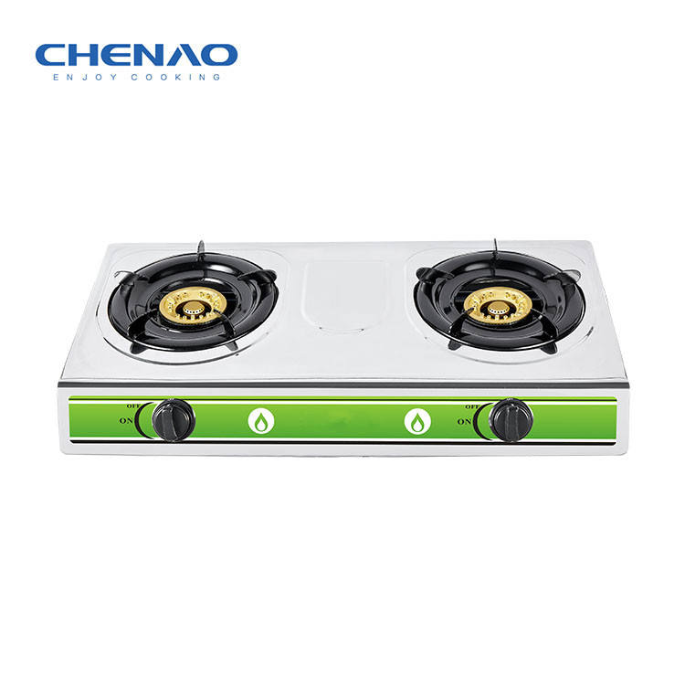 Double burner gas stove in thailand stainless steel butane stove cooktops kitchen accessories