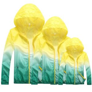 Hot family mom dad children sunscreen clothing set women and men outdoor coat family matching sports jacket