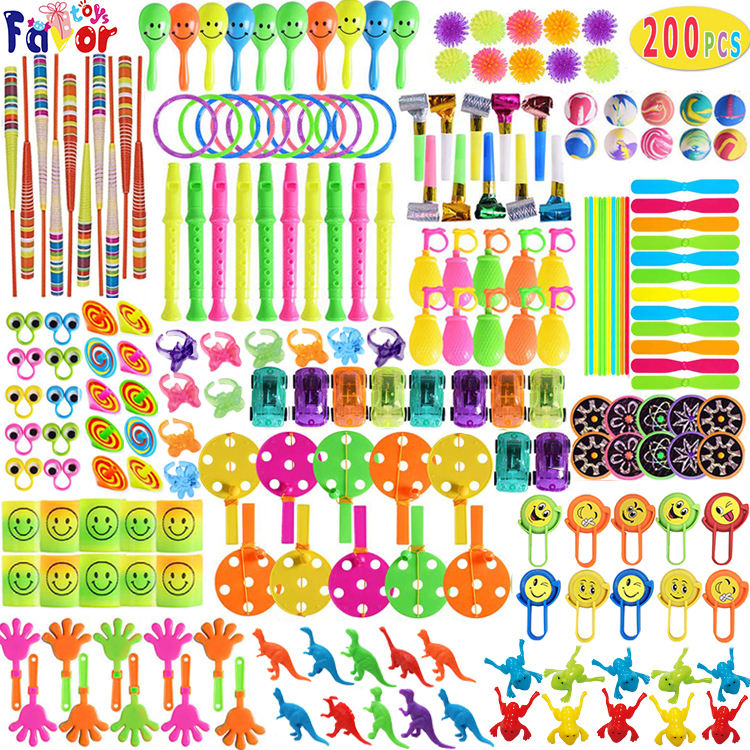 Wholesale Carnival Prizes 200PCS Party Favors Toys AssortmentためBirthday Party GiveawaysとClassroom