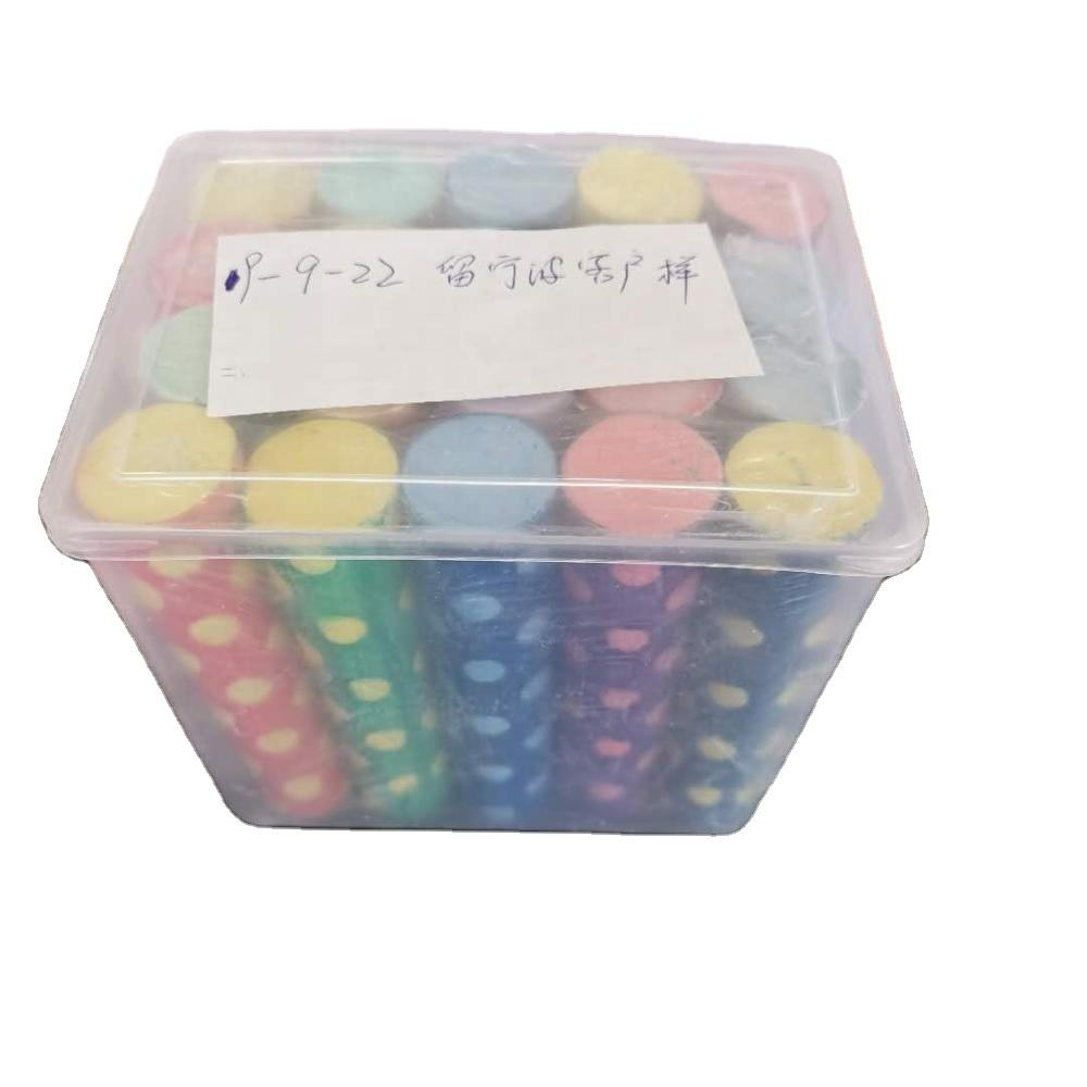 Printed sidewalk chalk for drawing and writing 15pcs per bucket Dustless chalk BSCI certificate
