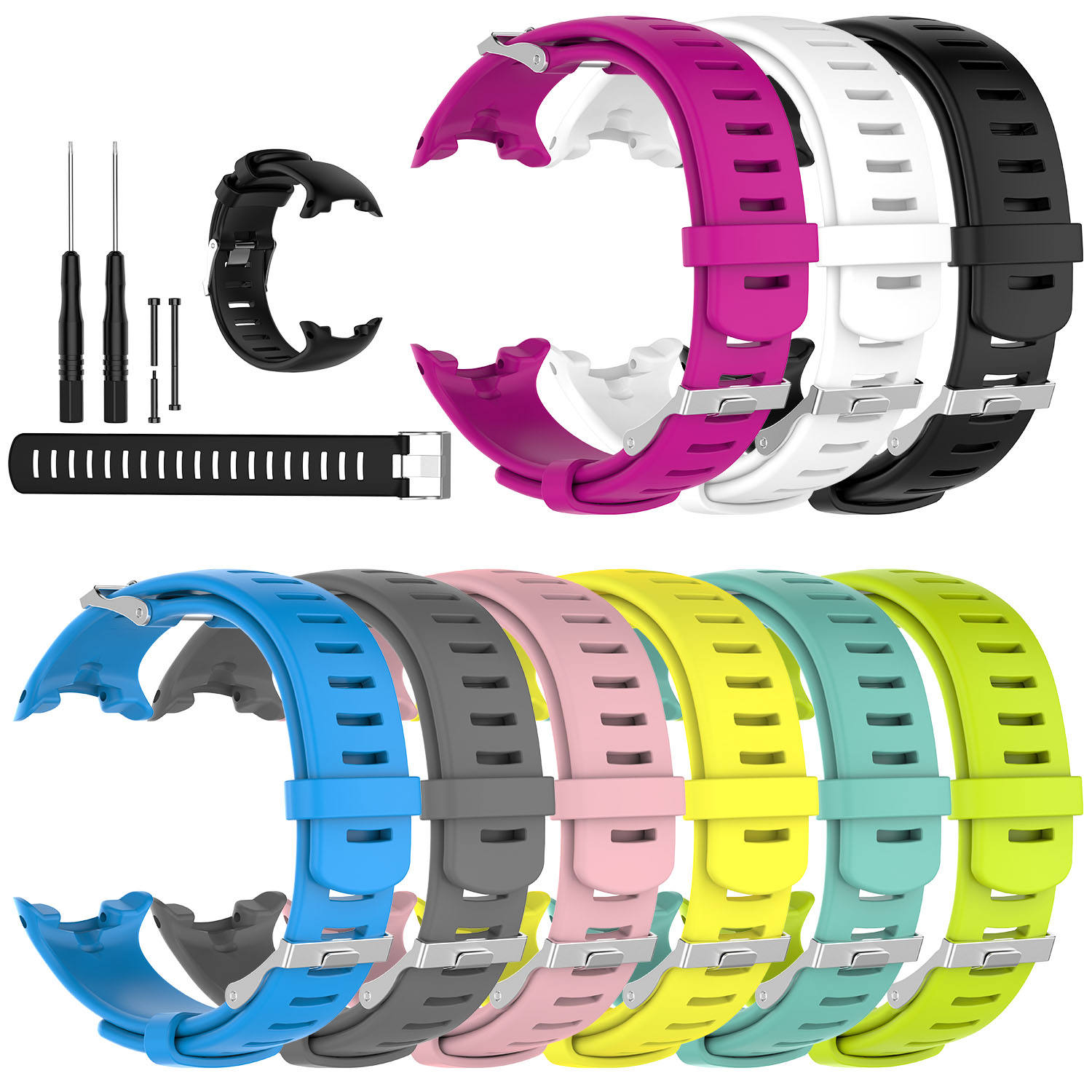 Silicone Watch Strap For Suunto D4i Novo Outdoor Sports Diving Watch Band With Tools