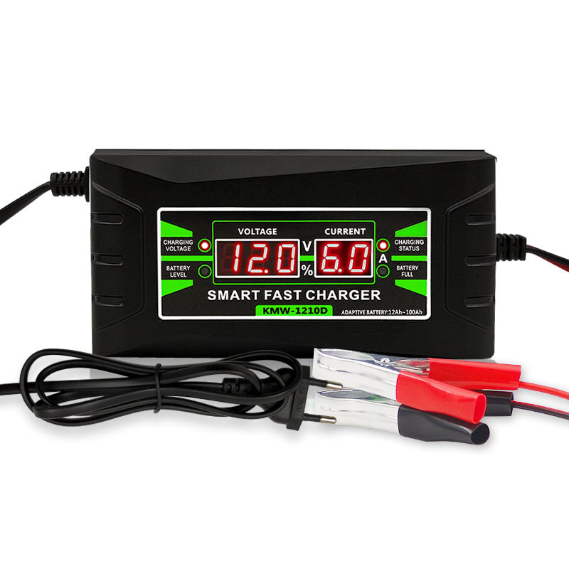 12v 6A portable intelligent lead-acid battery charger for rechargeable batteries
