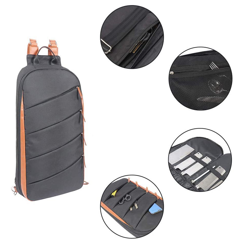 Kitchen Cooking Portable Knife Backpack Bag Multifunctional Roll Tooling Bag Carry Case Chef Knife Bag