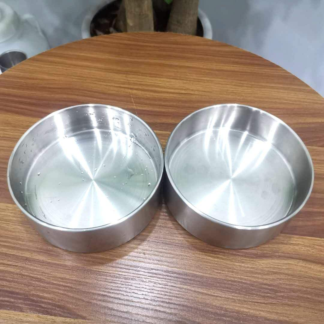 32oz64oz double wall stainless steel metal dog bowl food bowl large capacity pet dog feeding drinking water bowl withlogo custom