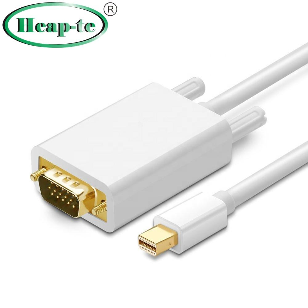 1.8 m Thunderbolt <span class=keywords><strong>Mini</strong></span> Displayport <span class=keywords><strong>To</strong></span> VGA Cable Adapter đối với <span class=keywords><strong>MacBook</strong></span> Pro Air iMAC