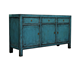 Antique Chinese Blue Lacquered Sideboard Living Room Furniture