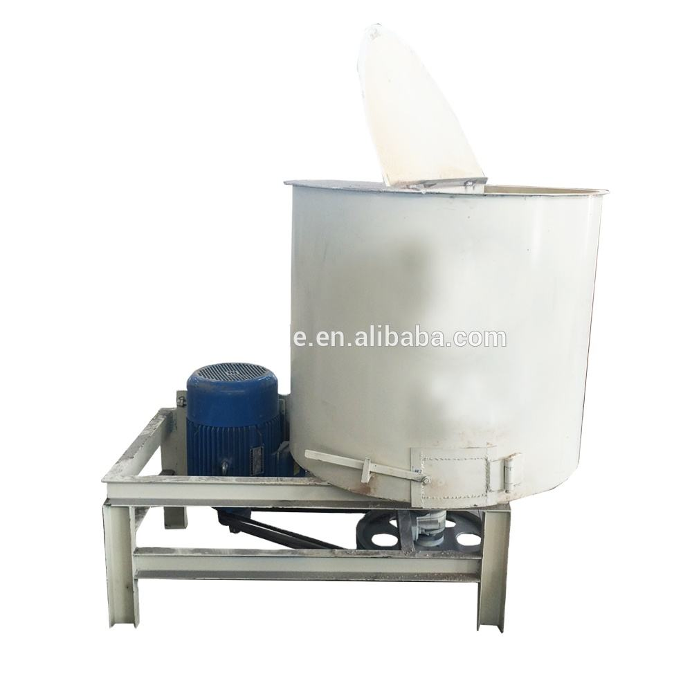 Glue mixer of sawdust and glue from compressed wood pallet solid block making line