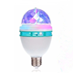 The factory price Auto Mini Party Light Stage Lighting LED Bulbs E27 B22 3W Bulb Full Color RGB LED Plastic Rotating Lamp