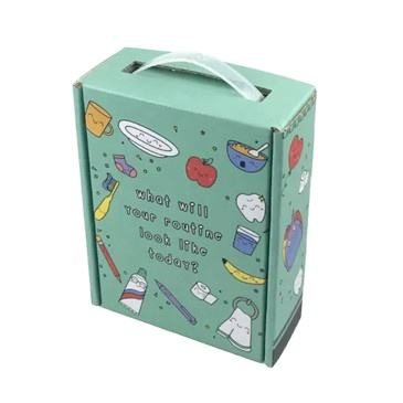 Durable Recycled packaging Postal Box Mailing with Plastic Handle for Learning Card
