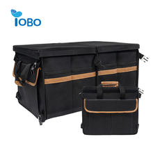 YOBO collapsible portable suv leather car trunk organizer collapsible