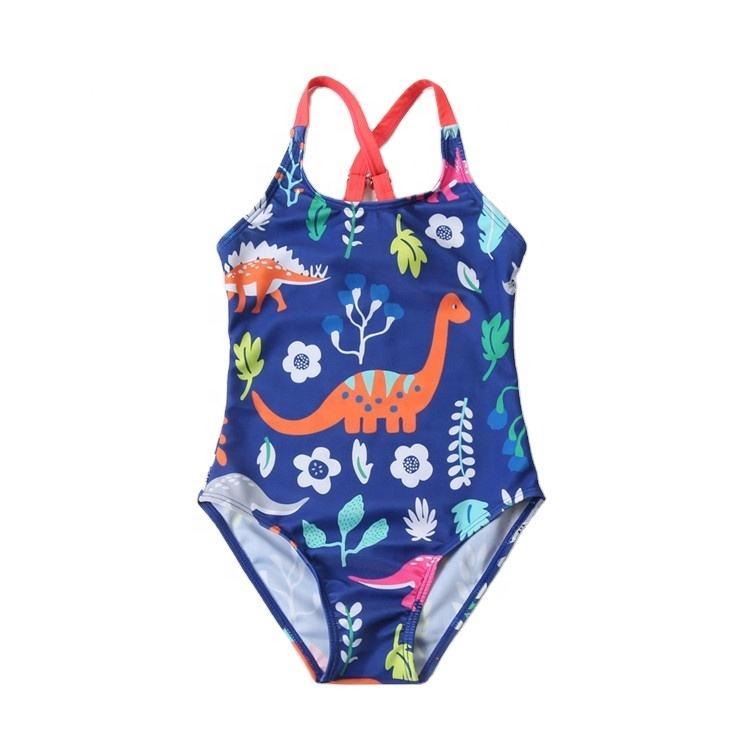 KIDSA 1-6T Toddler Baby Little Girls Bikini Sets Summer Beach Inclined Shoulder Swimsuits
