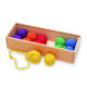 N001 Wood Colorful Ball Preschool Training Learning Educational Toys Froebel Gabe toy 1