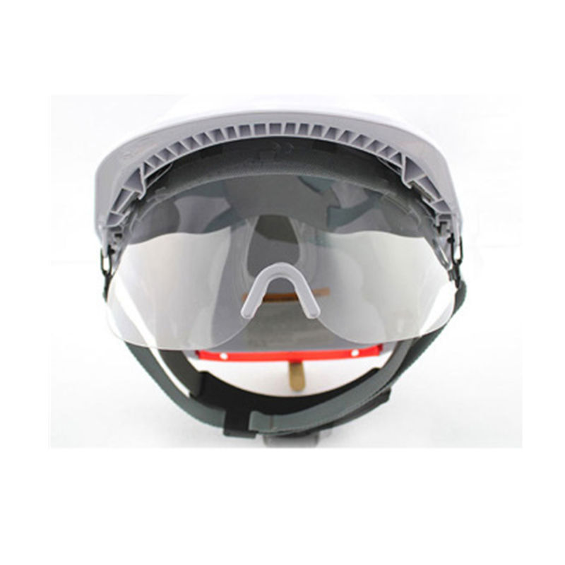 Safety helmet with visor construction safety helmet with clear PC visor CE & ANSI approved