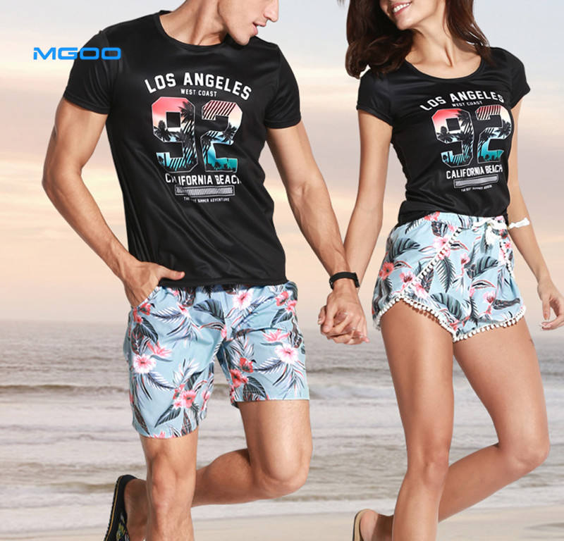 Custom New Board Swim Short Couple Swimwear Swimsuit print floral Swimming Shorts Women Beach Shorts Lovers Men Beach Surfing