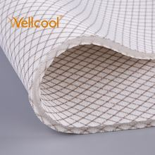 Custom closed hole washable great support stripe pattern polyester air mesh spacer knit fabric for yoga mat